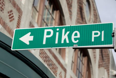 Famous places, Pike Place Market Street Sign