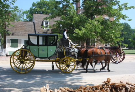 Colonial carriage at Williamsburg, Virginia