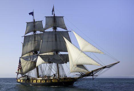 Maritime Adventure; Majestic Tall Ship at Sea