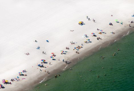 """Beach aerial view, Gulf Shores, Alabama, U. S."""
