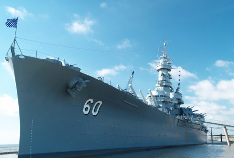 """The battleship USS Alabama (BB-60), a museum and National Historic Landmark in Mobile, Alabama.More images of the USS Alabama:"""