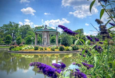 Muny Bandstand located in Forest Park, St. Louis, Missouri